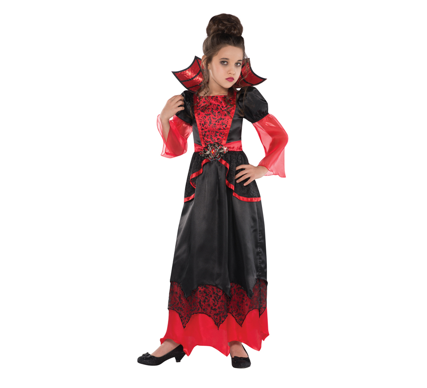 d guisement de reine vampire pour enfants pour halloween. Black Bedroom Furniture Sets. Home Design Ideas