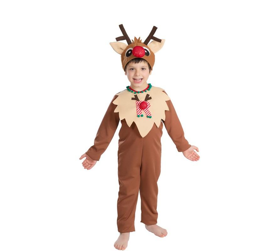 Disfraz de reno para beb s y ni os para navidad - Disfraces navidad para bebes ...
