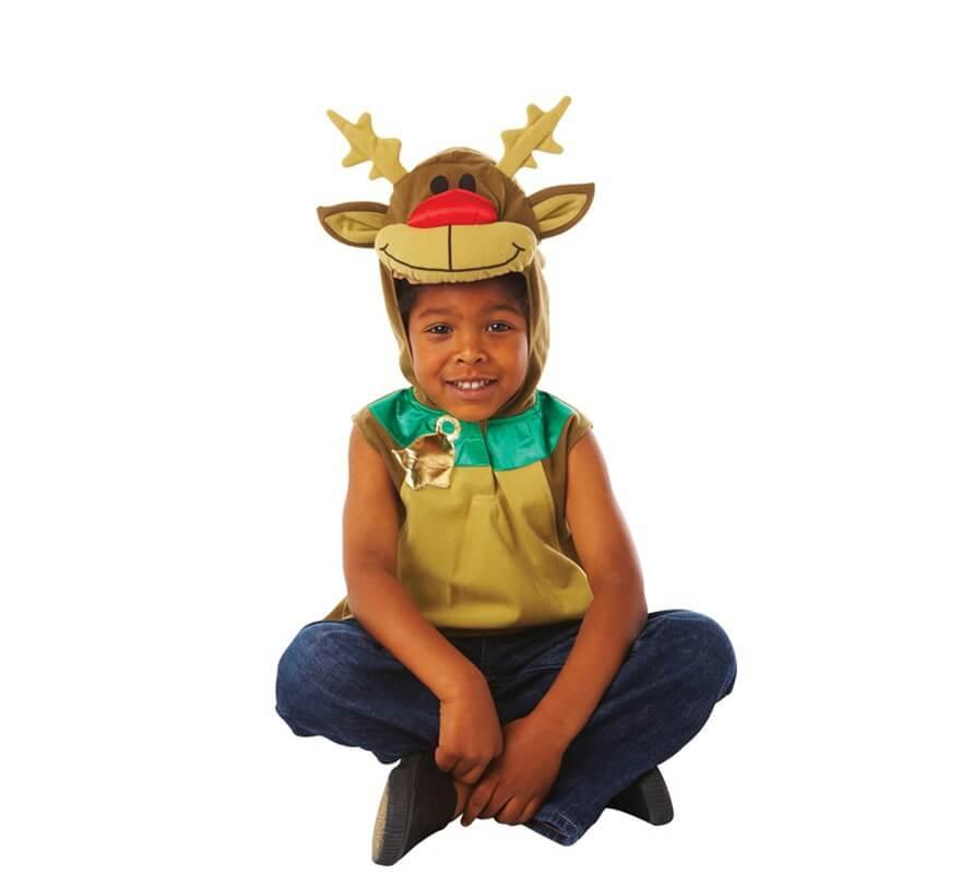 Disfraz de reno rodolfo para ni os de 2 a 3 a os para navidad - Disfraz nino navidad ...