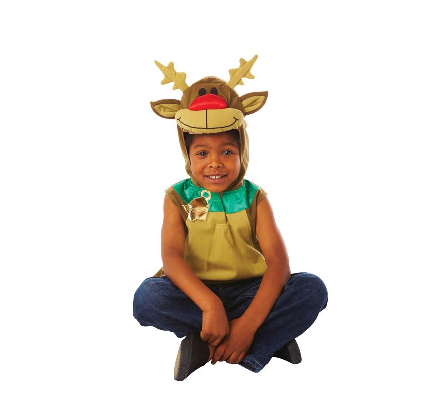 Disfraz de reno rodolfo para ni os de 2 a 3 a os para navidad - Disfraz de navidad para bebes ...