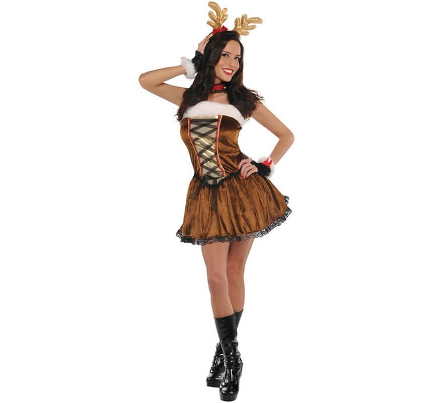 Disfraz De Reno Sexy Para Mujer Para Navidad - Disfraz-reno