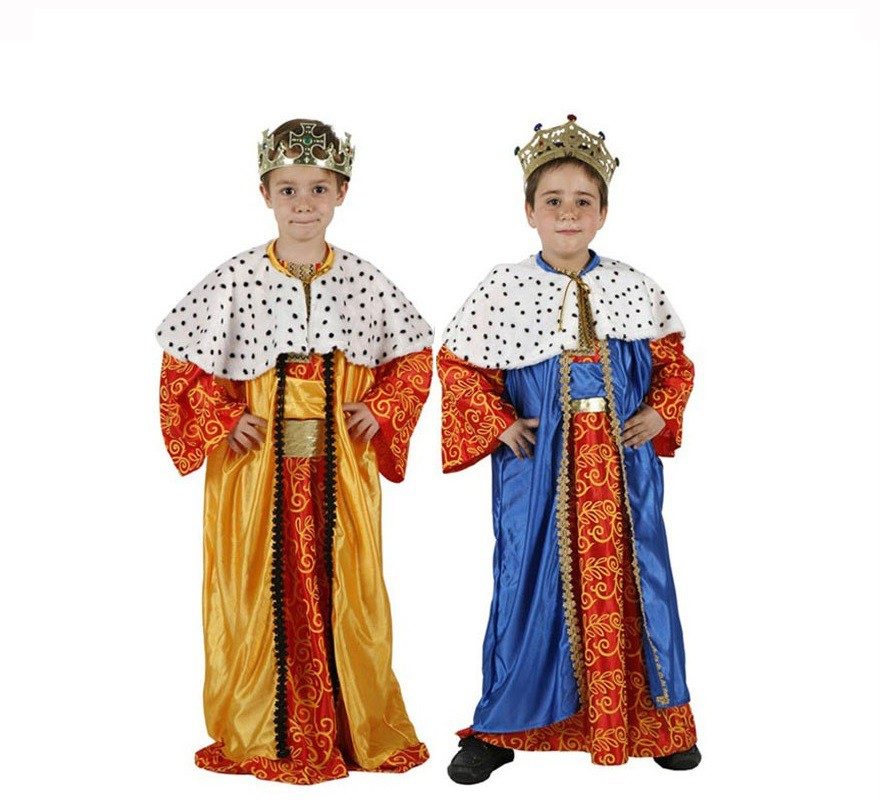 Disfraz de Rey Mago para nios en colores diferentes y tallas para