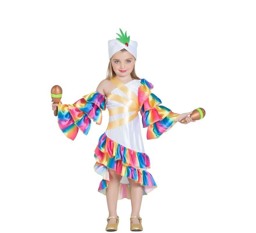 cc4969c20 Disfraz de Rumbera Blanca para niña