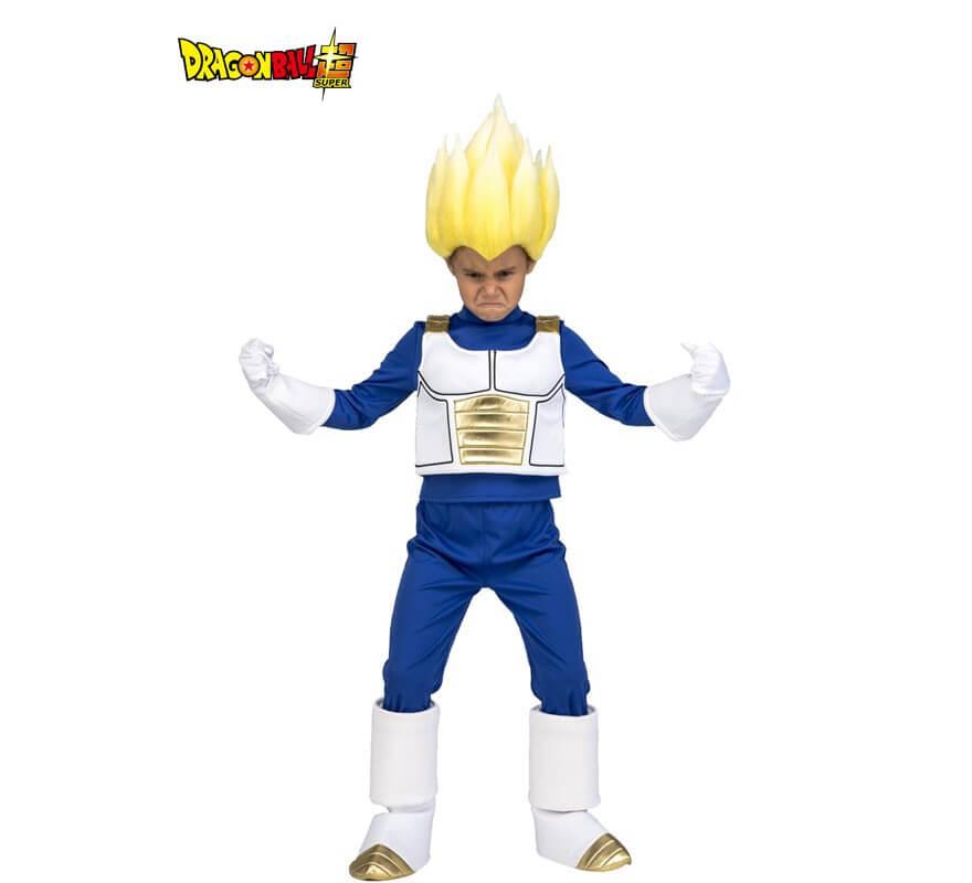 Disfraz de Saiyan Vegeta de Dragon Ball con peluca para niño 343787b29dfb