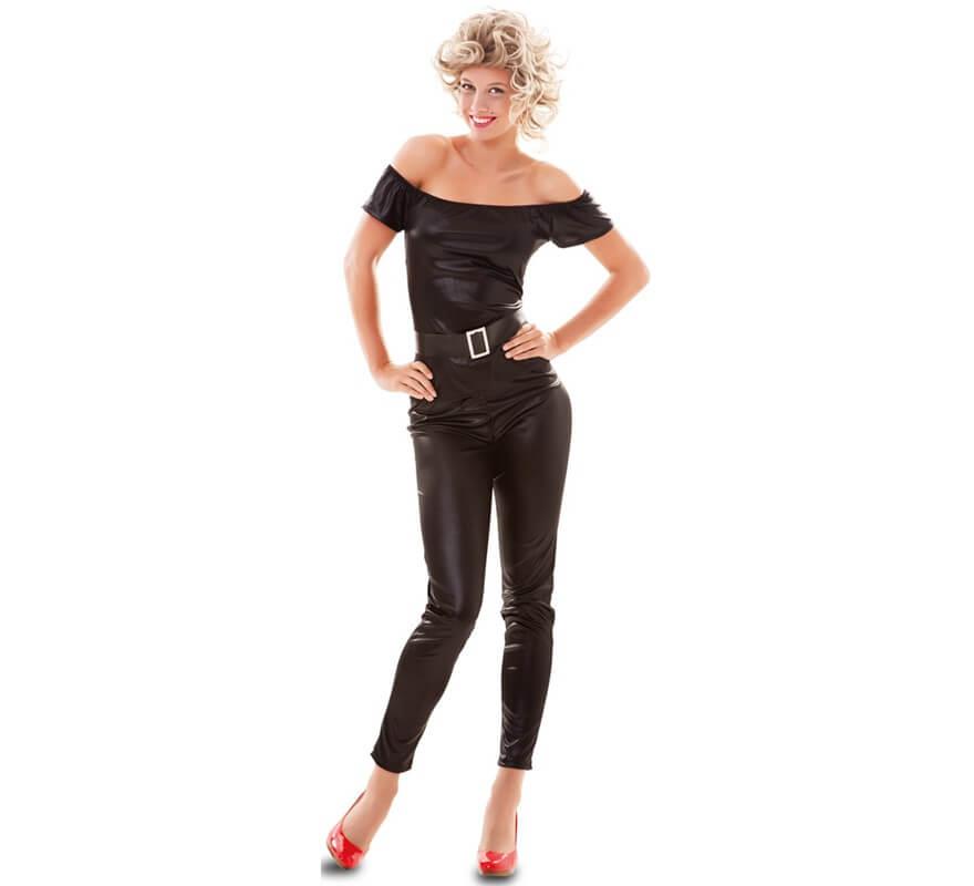 linda gran calidad precio favorable Disfraz de Sandy negro para mujer