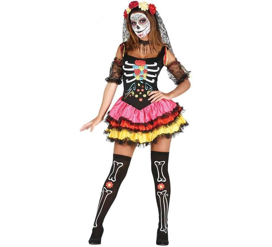 NUOVO Halloween-Giorno dei Morti Girocollo Donna Costume Accessorio