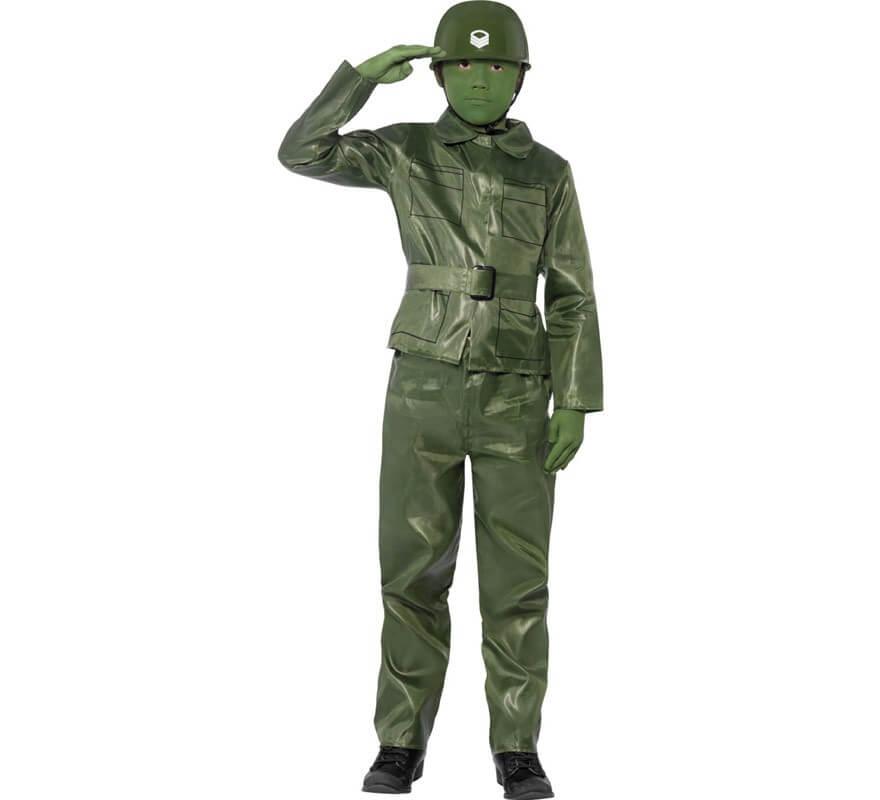 D guisement de petit soldat en plastique vert pour gar ons - Deguisement en o ...