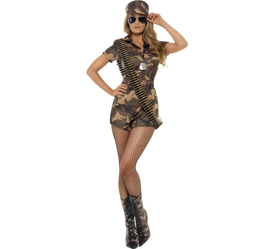Disfraz de Soldado de Camuflaje Sexy para Mujer aab306044a8