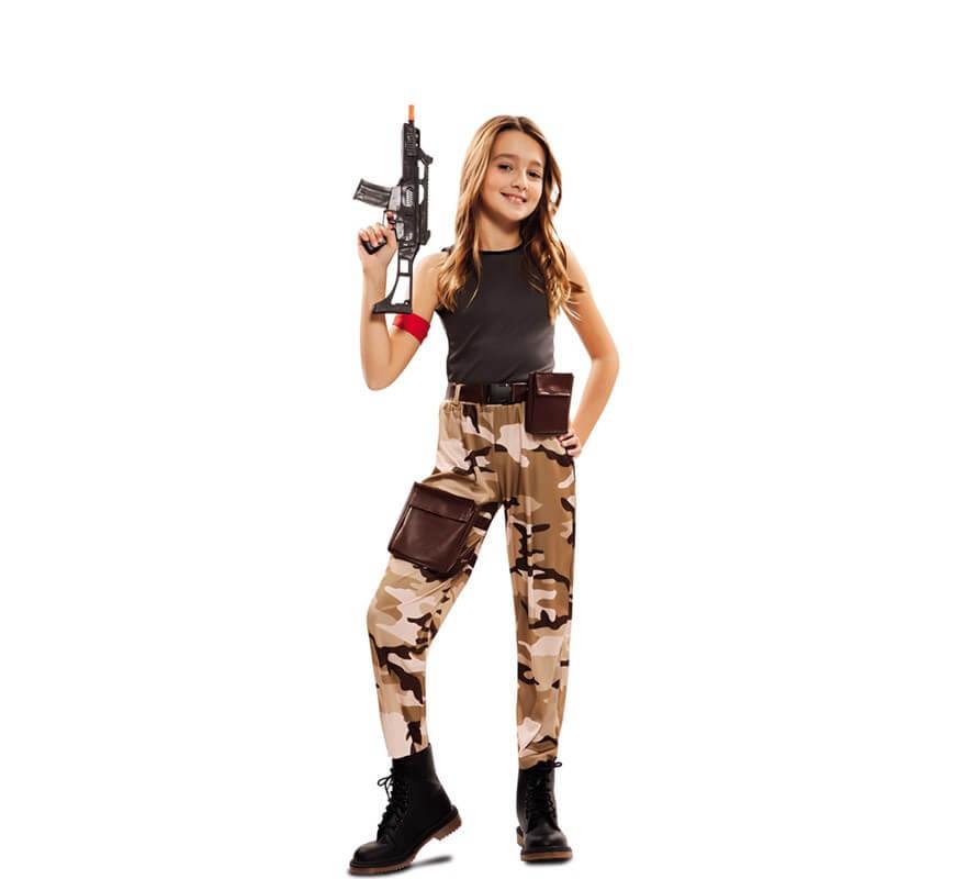 Disfraz De Soldado De Combate Para Nina