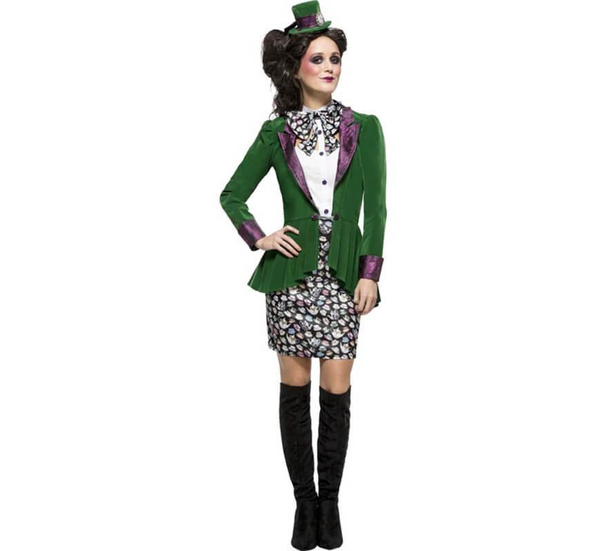 Disfraz de Sombrerera Loca Verde para mujer 112247d207a
