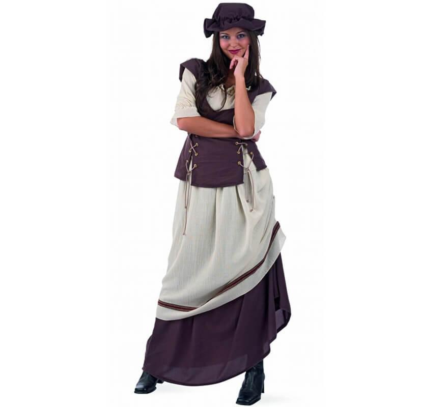 Disfraz de Tabernera Medieval Laia para mujer