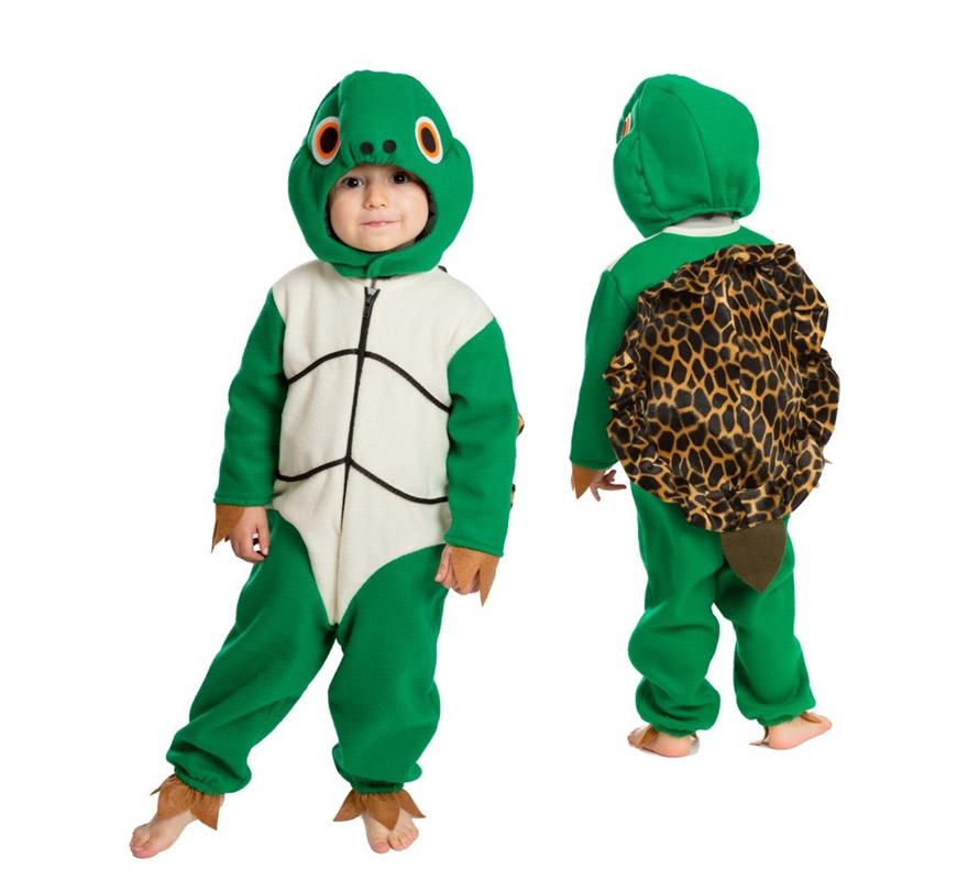 Disfraz de tortuga con caparaz n para beb s de 18 meses - Como hacer un disfraz de bebe ...