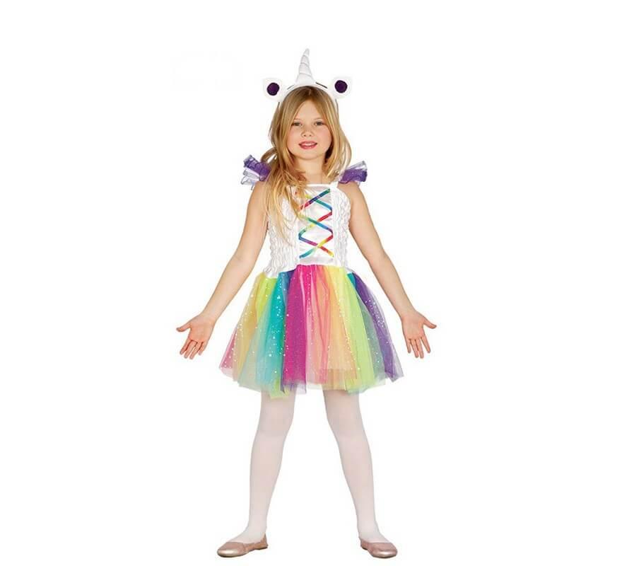 disfraz de unicornio multicolor con tut para ni a. Black Bedroom Furniture Sets. Home Design Ideas