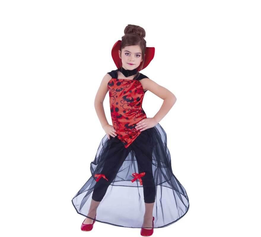 0ed1ff07b Disfraz de Vampiresa con Tul para niña