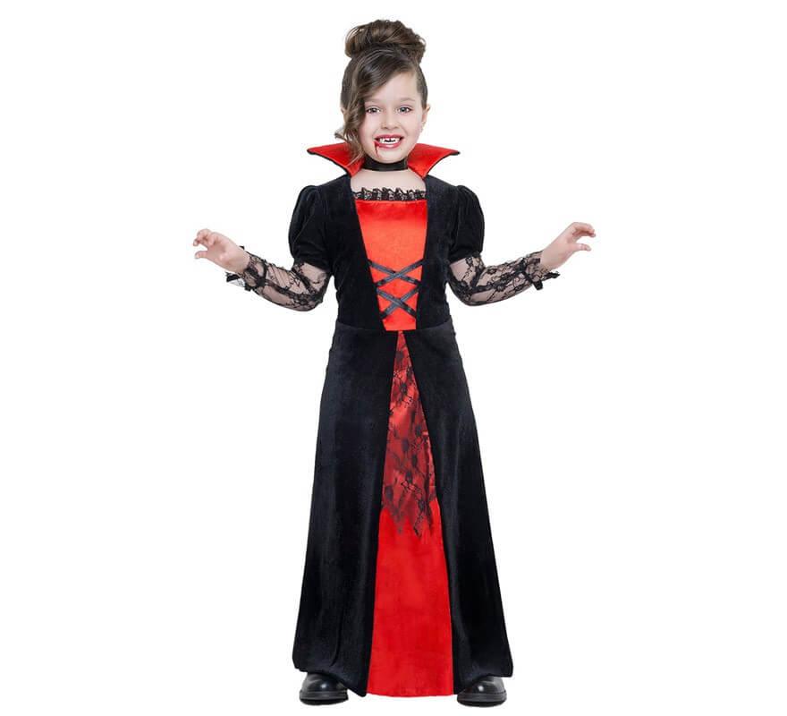 2a7ec2376 Disfraz de Vampiresa encaje para niña