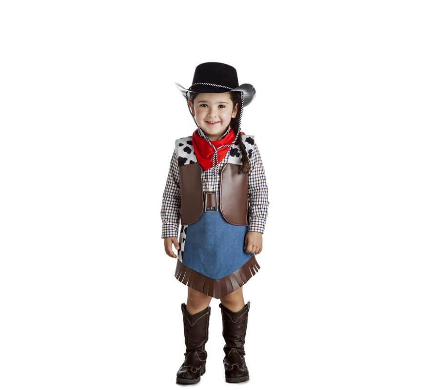 8b3fa212e4361 Disfraz de Vaquera para niña