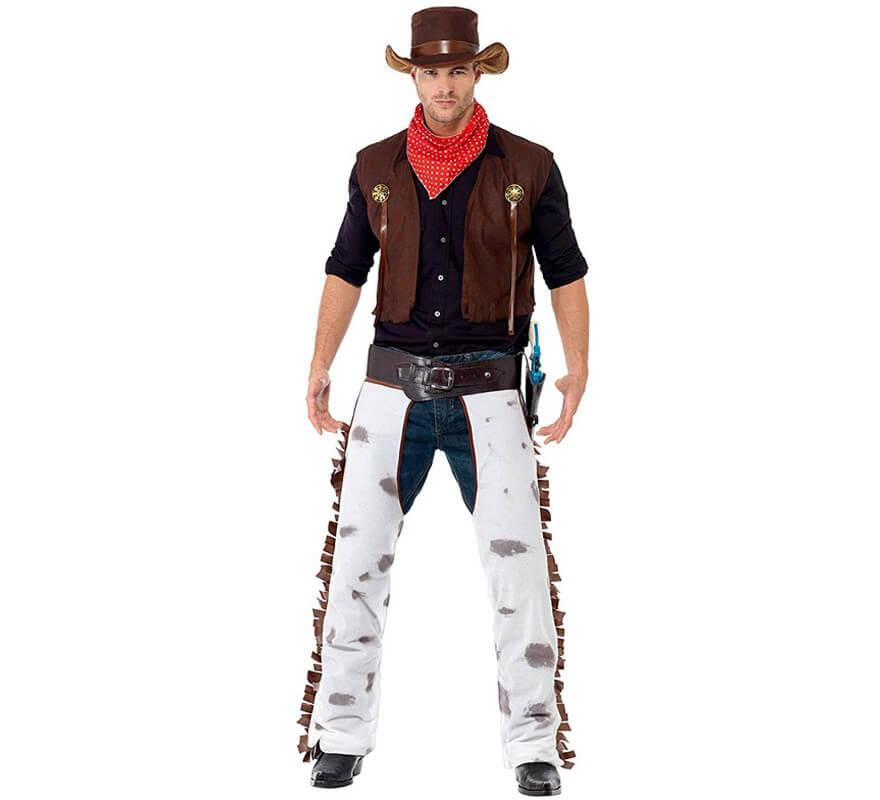 d guisement gar on cowboy marron pour homme plusieurs tailles. Black Bedroom Furniture Sets. Home Design Ideas