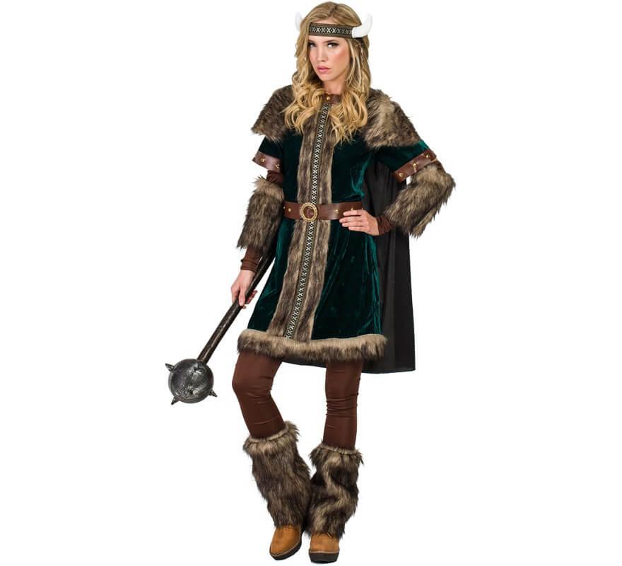 Disfraz de Vikinga Verde para mujer 090fb356d0c