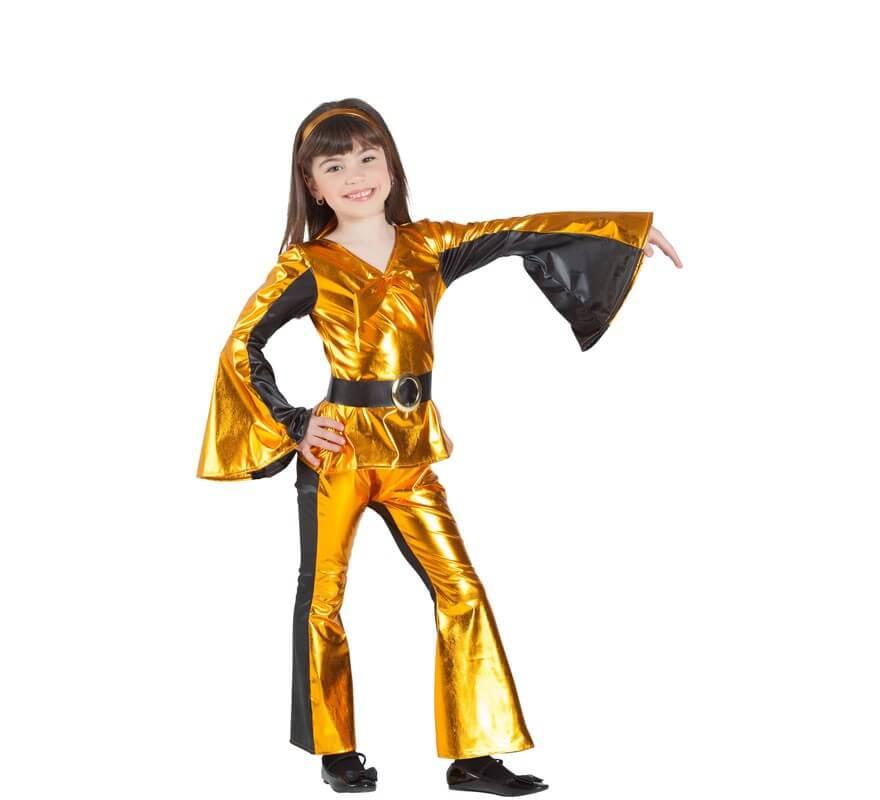 Disfraz Disco Dorado para niña