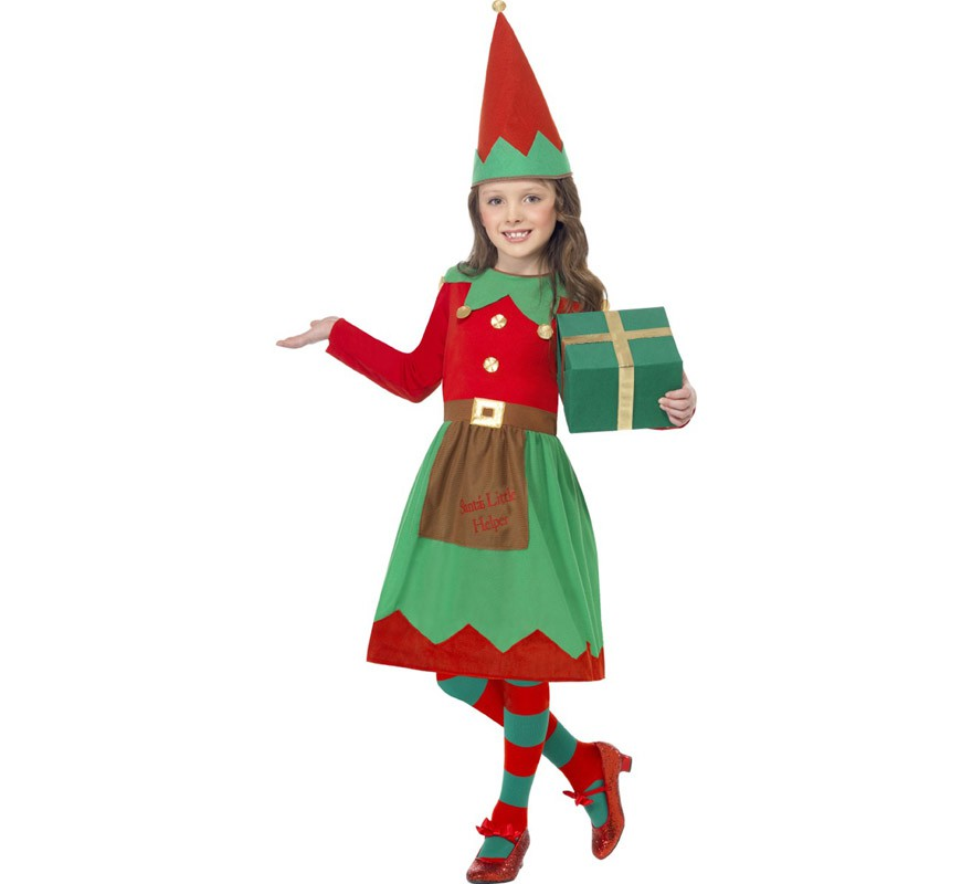 disfraz elfa ayudante de santa para nia
