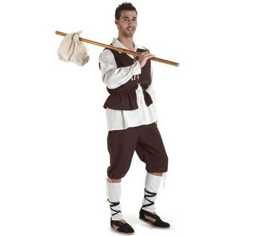 Disfraz Escudero o Campesino Medieval para hombre