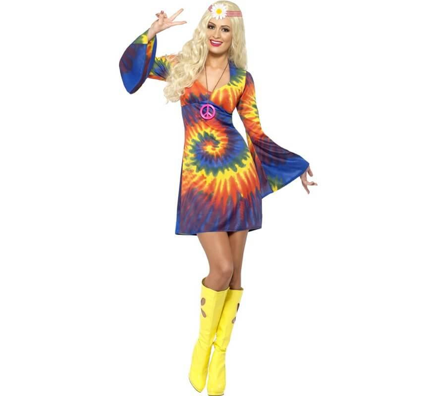 Pour Hippie Plusieurs Déguisement Bariolée Femme Tailles Multicolore VpGSMUzq