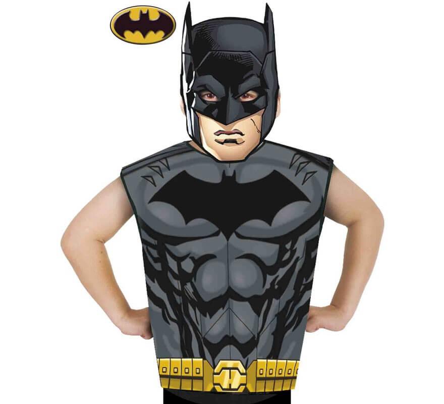 ecdba1c80 Disfraz o Kit de Batman para niños  Máscara y Camiseta