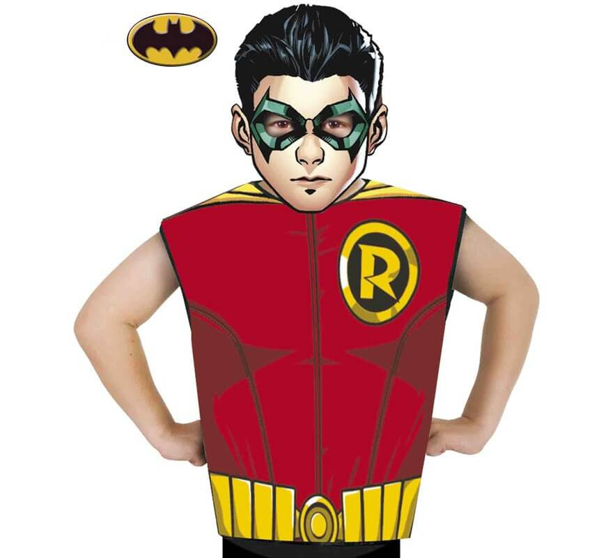 De Disfraz Robin Y Batman NiosMᄄᄁscara O Para Camiseta Kit rxoeCdB