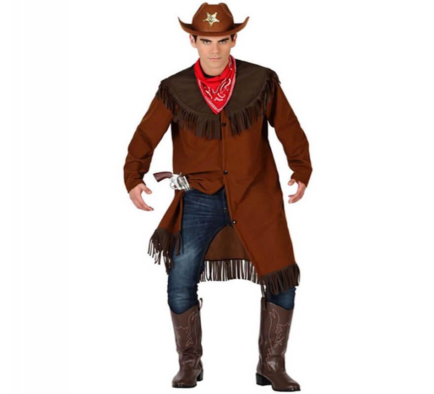 Plusieurs Cowboy Homme Déguisement Tailles Marron 0O8PXnwk