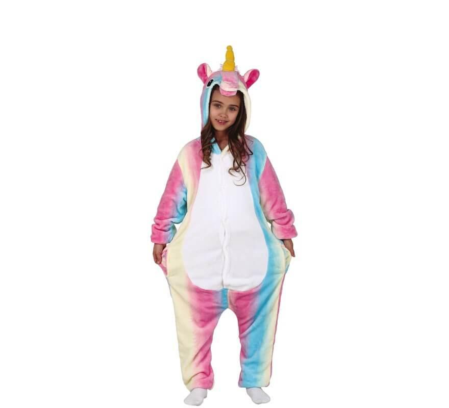 ca64d4a04 Disfraz Pijama de Unicornio Multicolor para niña