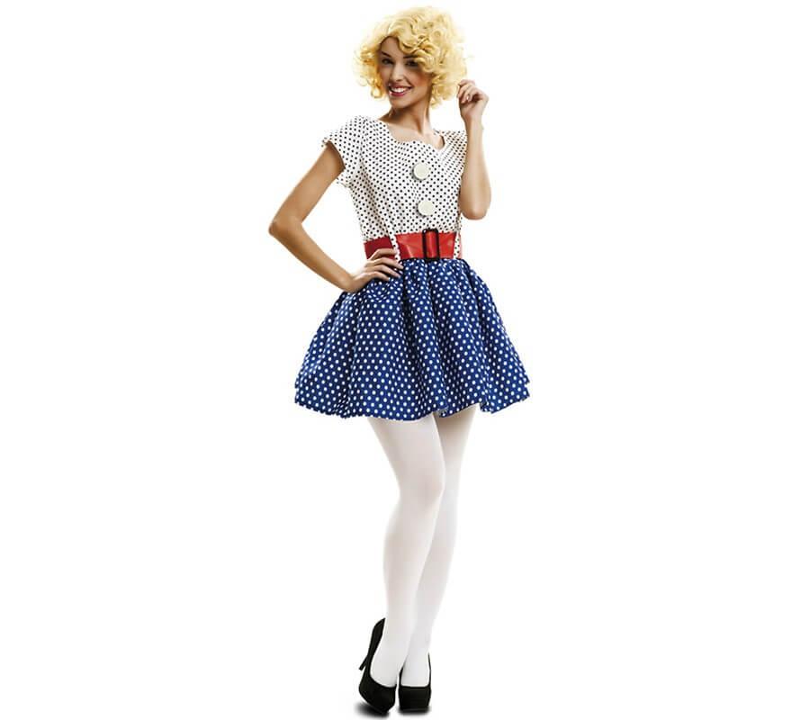 Disfraz Pop Art de los años 50 o 60 para mujer 8a7646df40af