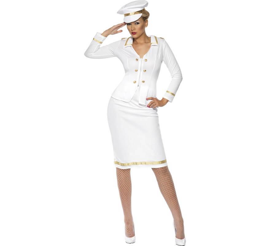 072a5ac31 Disfraz Suboficial de Marina color Blanco para Mujer