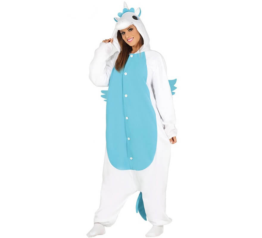 58d61a1781d5 Disfraz tipo Pijama de Unicornio azul para mujer