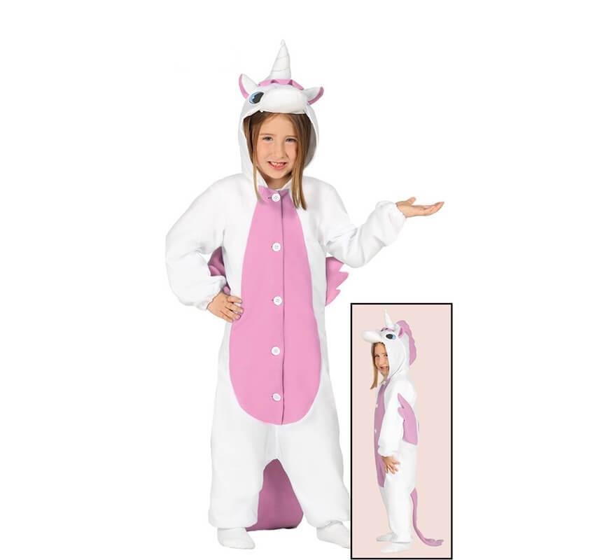 bcee7c7a54d Disfraz tipo Pijama Unicornio Rosa para niña