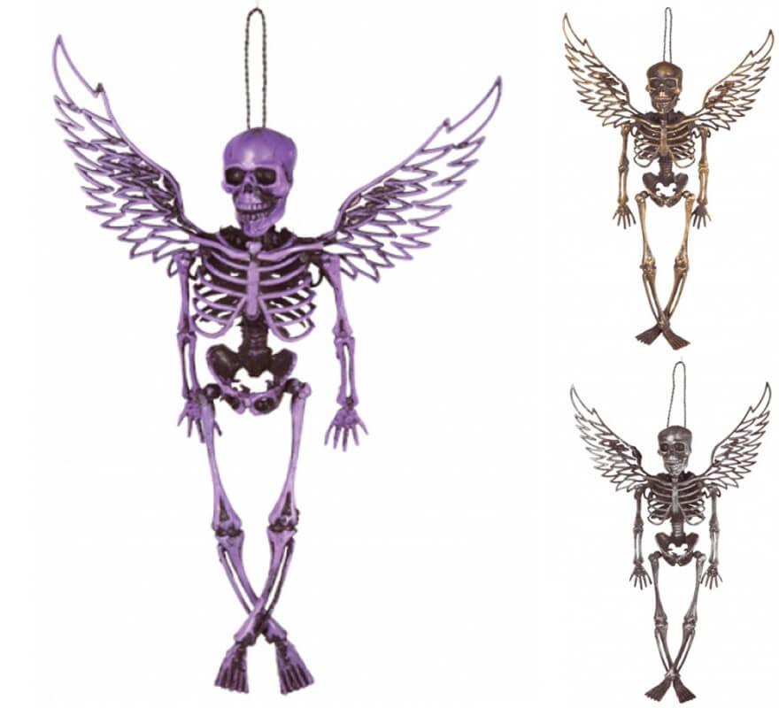 Esqueleto con alas en colores surtidos de 46 cm
