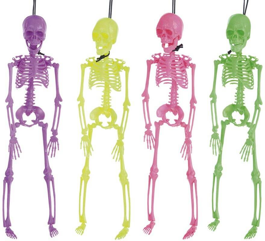 Esqueleto Neón de 41 cm en 4 colores surtidos
