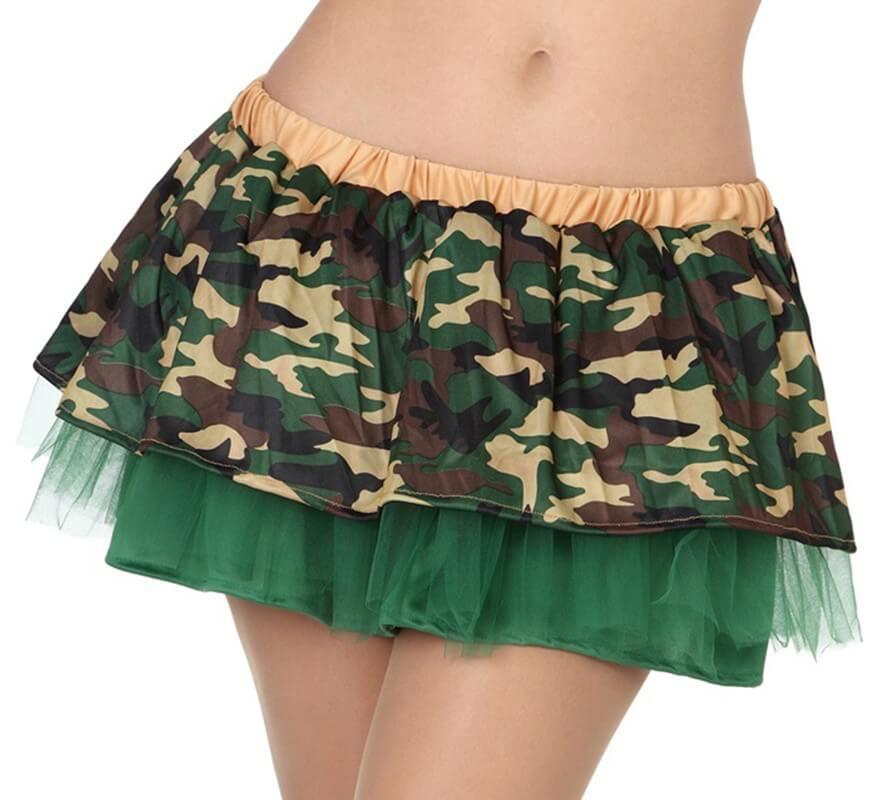Femme Pour Militaire Tulle De Avec Camouflage Jupe uPXkiZ