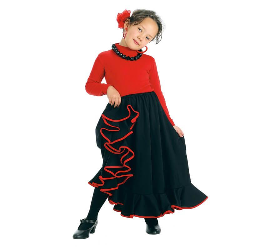 885b949bd Falda Flamenca o Rociera negra para niña