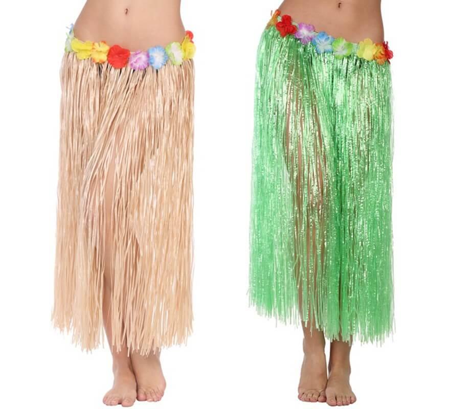 b74c375bd Falda Hawaiana en dos colores 80 cm