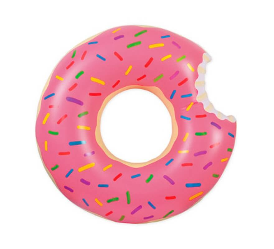 Flotador Donut tamaño grande de 119 cm