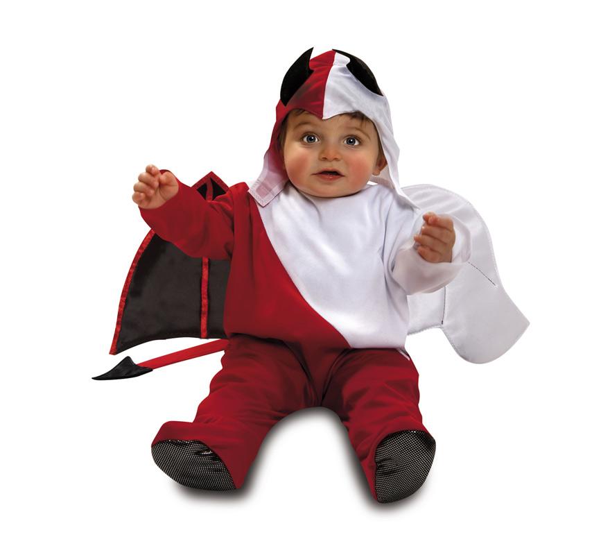 Disfraz ngel diablo para beb s de 7 a 12 meses de halloween - Disfraz halloween bebe 1 ano ...