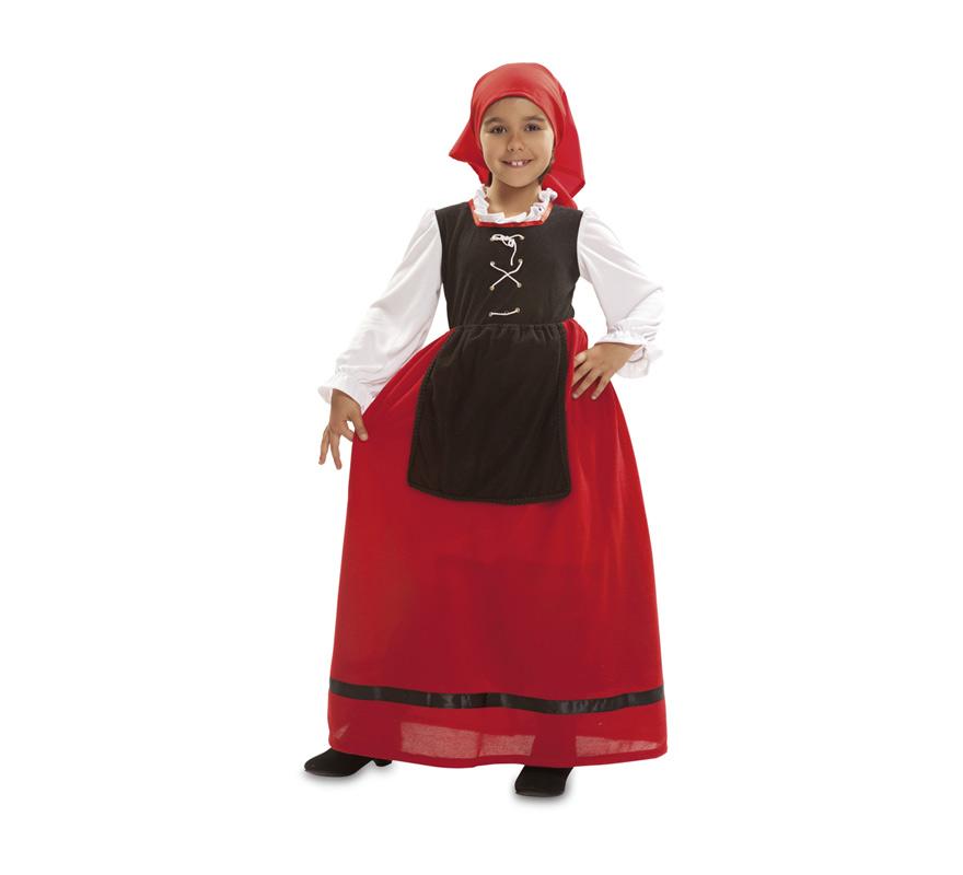 Disfraz de aldeana o pastora para ni a - Disfraz navideno nina ...
