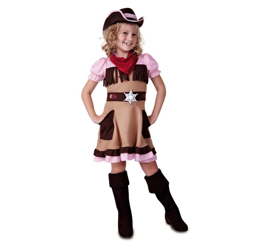 cfb3da555bb8a Disfraz de Cowgirl o Vaquera para niña