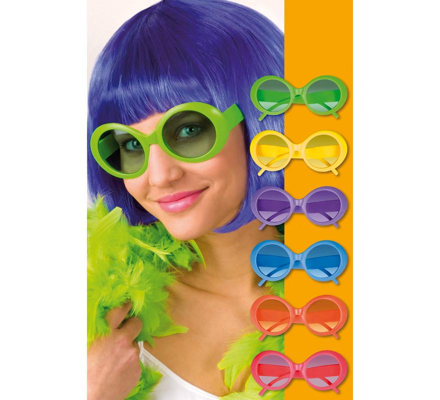 ebbbd8af69 Gafas redondas fluorescentes de Hippie 6 colores surtidos 08712026025401