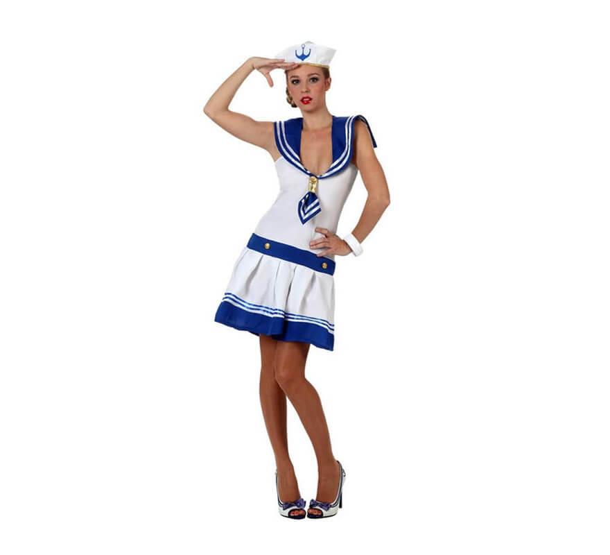 Disfraz de marinera sexy blanco de mujer - Disfraz marinera casero ...