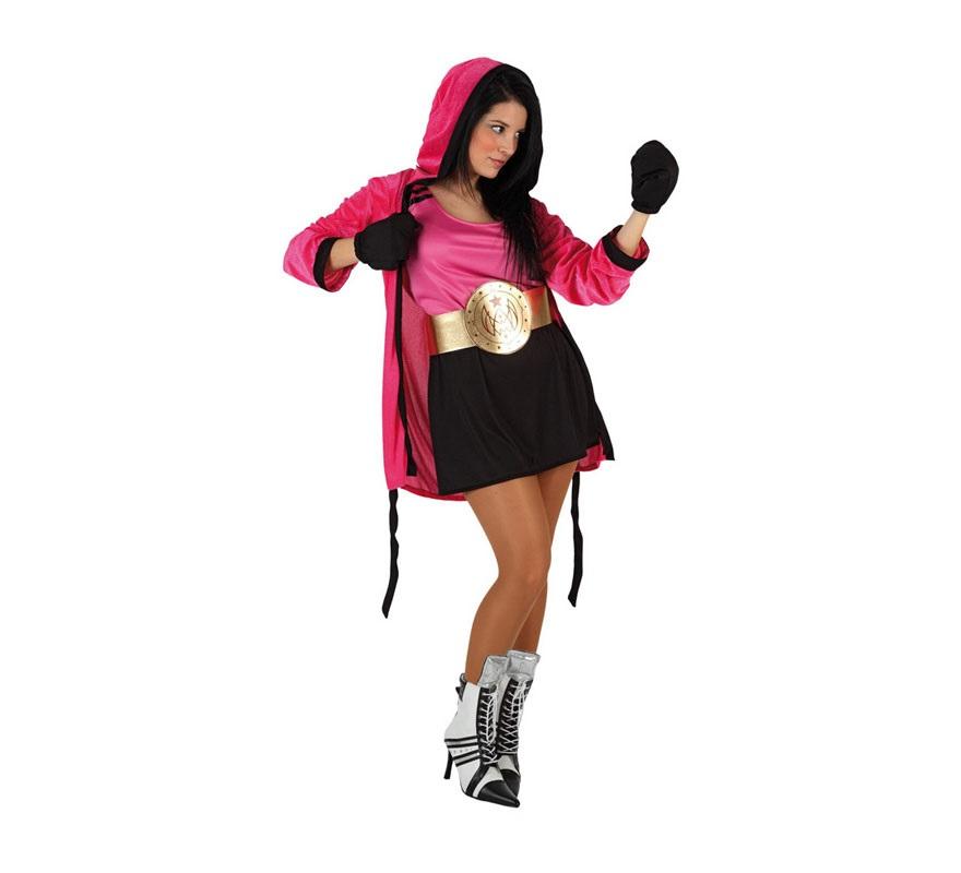 Disfraz de Boxeadora para mujer talla M L 08422259060819 ... efe83fb755a