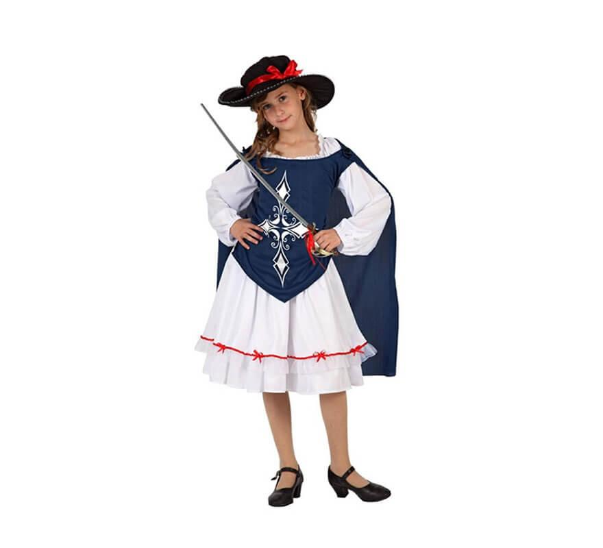 Disfraz de Mosquetera Azul para niñas b0fd0b5ed9a