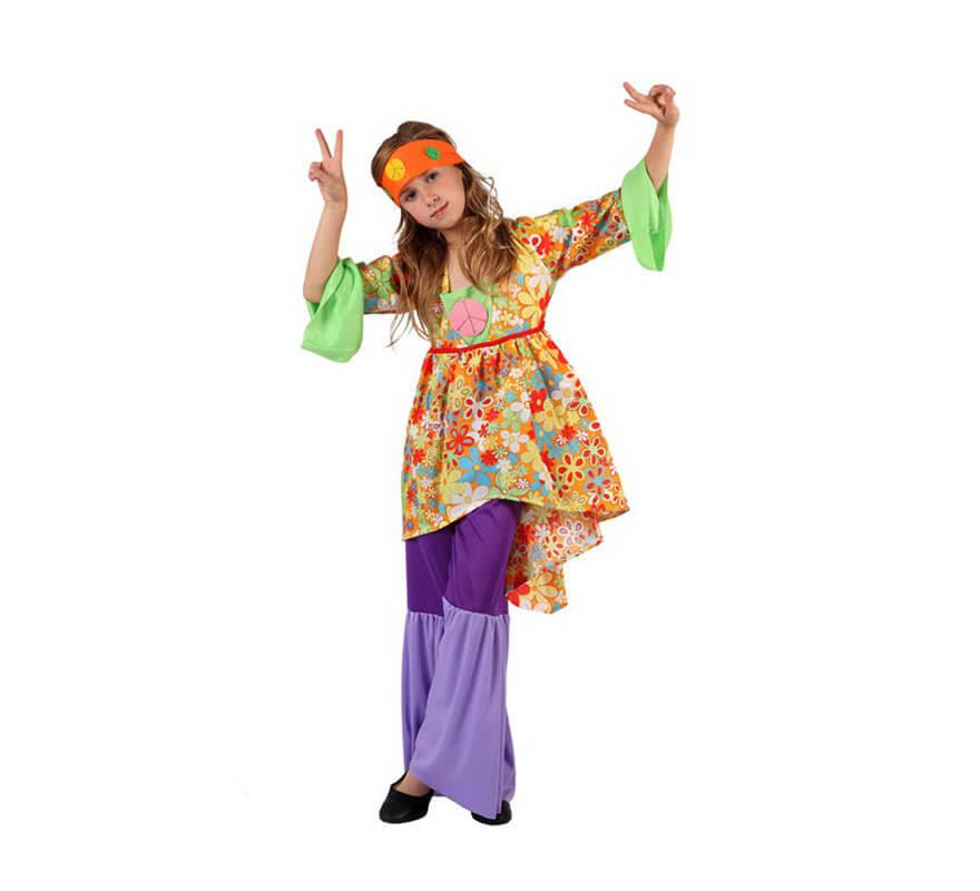 584230916 Disfraz de Hippie para niñas