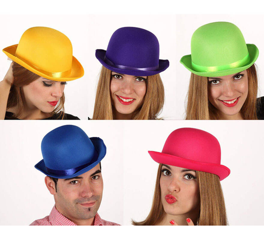 913416c778a88 Sombrero Bombín Fluorescente 5 colores surtidos