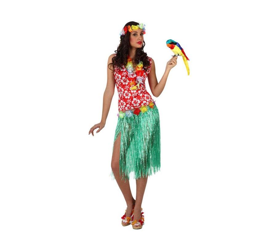 Disfraz de Hawaiana para mujer talla M,L